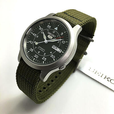 $ CDN136.55 • Buy Men's Seiko 5 Automatic Day-Date Green Military Style Watch SNK805 SNK805K2