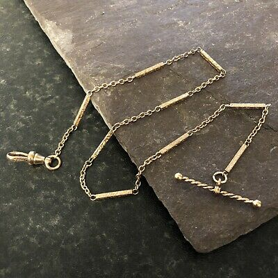 £85 • Buy Unusual Antique 10ct Rose Rolled/Plated Gold Fancy Albert Pocket Watch Chain