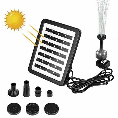 £29.02 • Buy LED Solar Power Water Pump With Light Outdoor Garden Pond Fountain Pool Battery