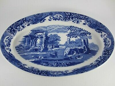 £30 • Buy Spode Italian Oval Baking / Serving  Dish Oven To Table Ware Blue And White