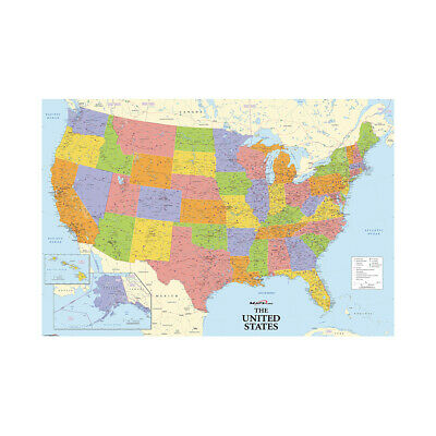 AU4.86 • Buy Map Of The United States US Highways Map Poster Print