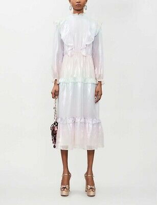 £180 • Buy Olivia Rubin Pastel Iridescent Sienna Dress, Size 10, Worn Once, Tags Reattached
