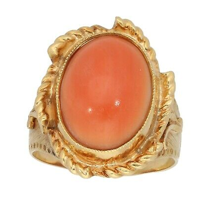 £495 • Buy 18ct Gold Ring 8.79g Dress/Cocktail Coral Size O - Fully Hallmarked