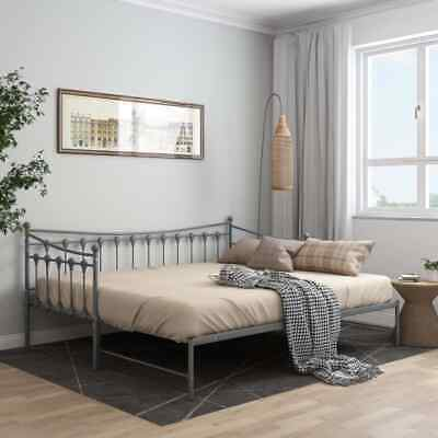 £136.99 • Buy VidaXL Pull-out Sofa Bed Frame Grey Metal For Day Sleeping Guest Sleepover
