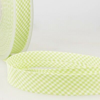 £1.70 • Buy La Stephanoise Polycotton Bias Binding - 30mm Wide Small Gingham - Anise Gree...