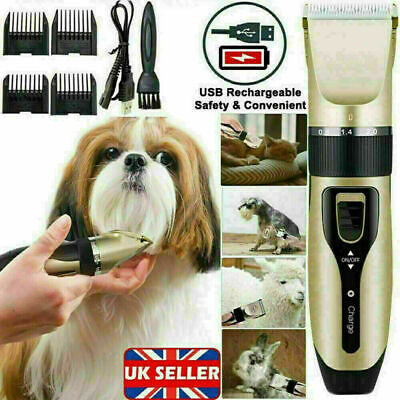 £6.99 • Buy Pet Hair Clippers Low Noise Dog Cat Grooming Clipper Electric Shaver Trimmer Kit