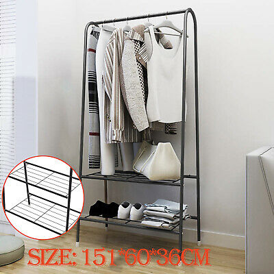 £16.99 • Buy Heavy Duty Clothes Rail Rack Garment Hanging Display Stand Shoes Storage Shelf