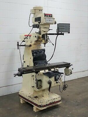 $3150 • Buy JTM-4VS Jet 3-HP Vertical Turret Milling Machine With DRO - Used - AM20438