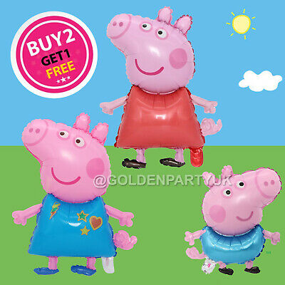 £3.59 • Buy Peppa Pig George Balloon Birthday Party Foil Air Kids Balloons Decor