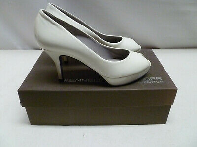 £34.95 • Buy KENNEL & SCHMENGER Shoes White Peeptoe Leather Size UK 3.5 New & Boxed RRP £175