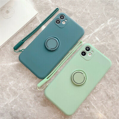AU5.99 • Buy Shockproof Silicone Ring Case Stand Lanyard Cover For IPhone11 Pro Max XR 6 7 8+