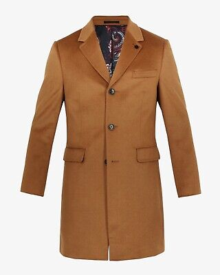 $226.90 • Buy Ted Baker BNWT SWISH Endurance Cashmere Overcoat Camel Size 40R RRP £429