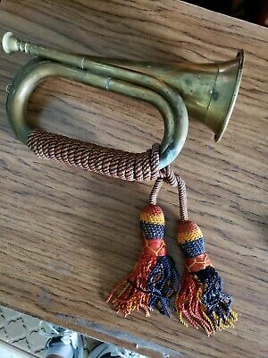 $25 • Buy VTG. Antique Army Military Forces Horn With Tassel/ Boy Scout Trumpet
