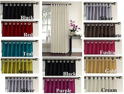 £4.99 • Buy Panel Curtains Tab Top Faux Silk Embroidered Sequin Swirl 145cm X 228cm One