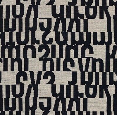 $95 • Buy New Authentic Maharam Letters Upholstery Fabric Remnants (2) By Gunnar Andersen