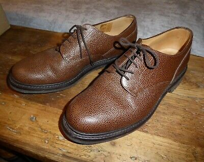 £99.95 • Buy SUPERB SANDERS WILLIAM FULL GRAIN BROWN LEATHER SHOES Size 8.5 COMMANDO SOLES