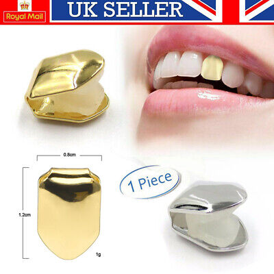 £3.99 • Buy Gold Silver Single Grill Tooth Clip Plated Mouth Teeth Cap Grills Bling Hip Hop