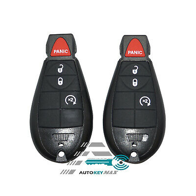 $ CDN28.55 • Buy 2 For 2013-2017 Dodge Ram 1500 Pick-Up 4 Button Remote Key Fob GQ4-53T