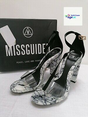 £4.99 • Buy MISSGUIDED Healed Shoes In Black And White Size 6 BNIB