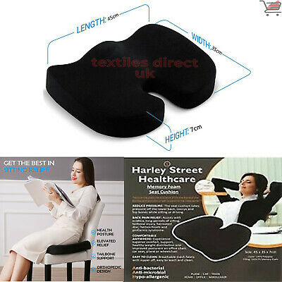 £13.95 • Buy Memory Foam Seat Lower Back Support Cushion Office Home Car Wheel Chair Pillow