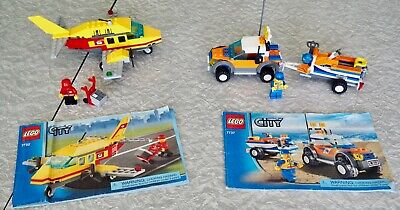 $14.95 • Buy Lego City 7732 7737 Air Mail Airplane And Coast Guard 4WD Jet Scooter