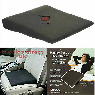 £11.90 • Buy Memory Foam Wedge Back Support Cushion Pillow Office Home Car Seat Orthopedic