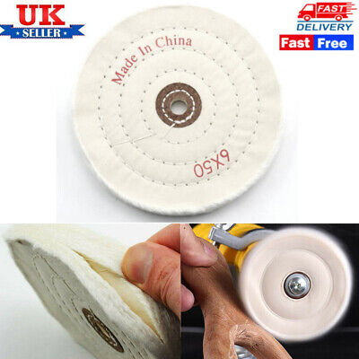 £5.69 • Buy 6  150mm Polishing Mop Buffing Wheel For Drill Bench Grinder Stitched Cotton UK