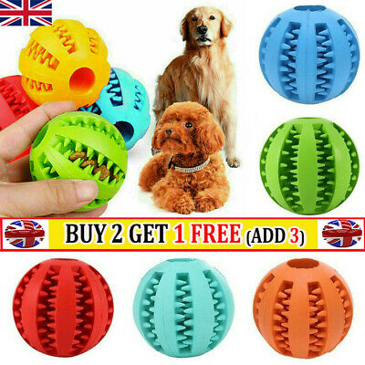 £3.79 • Buy Pet Dog Puppy Rubber Ball Rubber Ball Teething Durable Treat Clean Fun Chew Toy