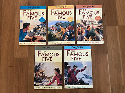 £7 • Buy Enid Blyton, The Famous Five Book Set (5 Books), VGC (50% To Charity)