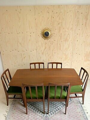 £1395 • Buy Mid Century Reteo A Younger Afromosia Dining Table & 6 Chairs