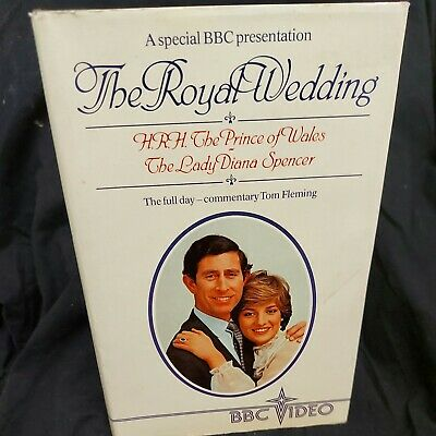 £6.90 • Buy Royal Wedding Charles & Diana Official Bbc Video VHS A BBC Special Presentation.