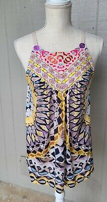 $ CDN14.94 • Buy Anthropologie One September Tank Top Size Small Multicolor Tribal Embroidered