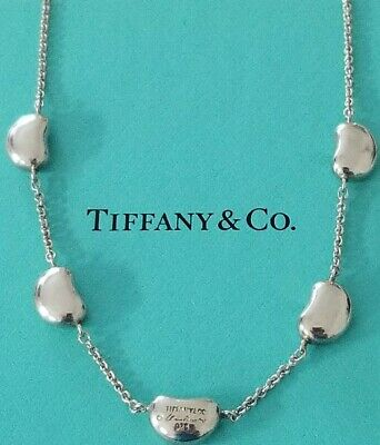 £273.48 • Buy Tiffany & Co.elsa Peretti Sterling Silver 5-bean Necklace 16  + Pouch/bag