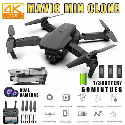 AU58.78 • Buy E88 Pro 4K HD 4K Wifi FPV Foldable Dual Camera RC Drone Quadcopter With Battery