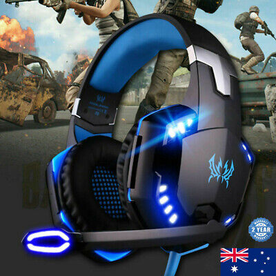 AU27.99 • Buy 3.5mm Gaming Headset MIC LED Headphones Surround For PC Mac Laptop PS4 Xbox One