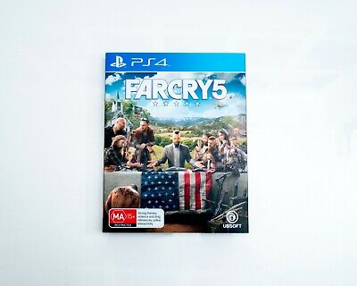 AU25 • Buy Farcry 5 PS4 Sony PlayStation 4 Game With Slipcover - AUS VGC Great Condition