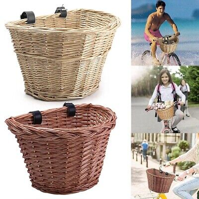 AU23.99 • Buy Vintage Wicket Bicycle Basket Leather Look Straps Bike Cycle Shopping NEW