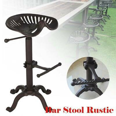 AU177.96 • Buy Adjustable Vintage Tractor Seat Bar Stool Rustic Cast Iron Industrial Chair
