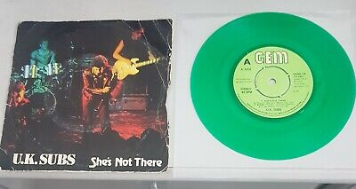 £5 • Buy UK Subs, She's Not There, Green Vinyl,  Rare Punk 7  Single