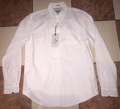 £12.99 • Buy Racing Green Tailored Fit Cotton Oxford Long Sleeves Shirt Size Medium White B