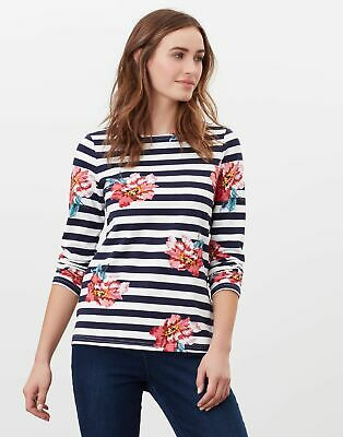 £9.95 • Buy Joules Womens Harbour Print Long Sleeve Jersey Top - Cream Floral