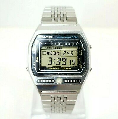 £170 • Buy Casio Ts-2000 Thermometer Backlight Watch Japan Module Vintage 1983