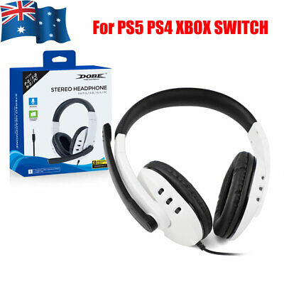 AU24.95 • Buy DOBE Gaming Headset 3.5mm Headphone With Microphone For PS5 PS4 XBOX SWITCH