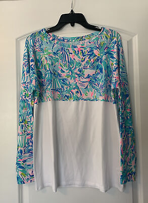 $65 • Buy NWT Lilly Pulitzer Finn Top Multi Cabana Cocktail Size Medium Free Shipping