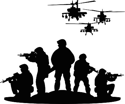 $19.95 • Buy Vinyl Home Bedroom Military Force Unit Squadron Art Design Wall Decal Sticker