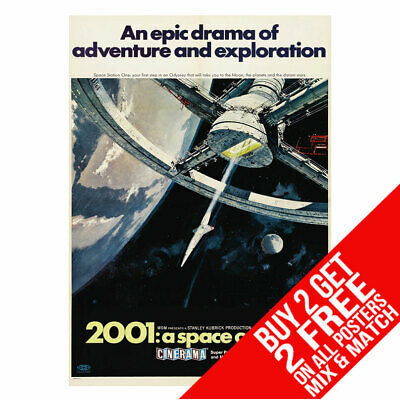 £8.99 • Buy 2001 A Space Odyssey Bb2 Poster Art Print A4 A3 Size Buy 2 Get Any 2 Free