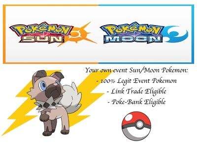 AU2.72 • Buy Pokemon Ultra Sun And Moon Event Rockruff With Own Tempo And Thunder Fang