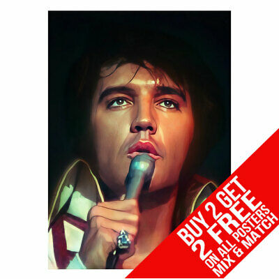 £6.99 • Buy Elvis Presley Bb1 Las Vegas Live Concert Poster A4 A3 Size Buy 2 Get Any 2 Free