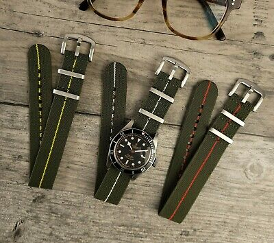 £9.95 • Buy Marine Nationale French Elastic Single Pass NATO Watch Straps | 20mm & 22mm