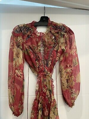 $498 • Buy $1050 Zimmerman Cassia Floral Dress Size #0 . Authentic New With Tags